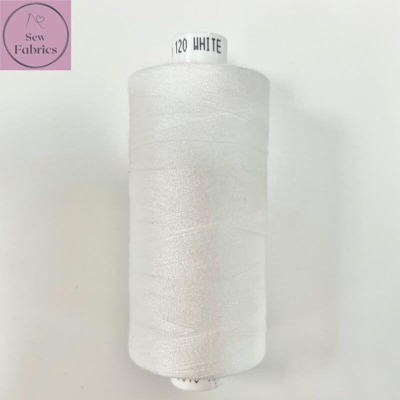 1 x 1000y Coats Moon Thread - White