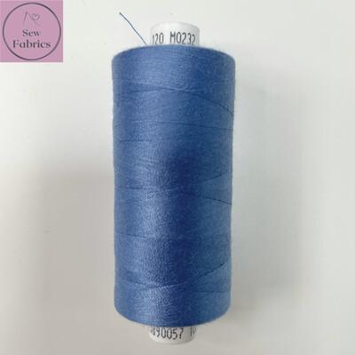 1 x 1000y Coats Moon Thread - Copen Blue M232