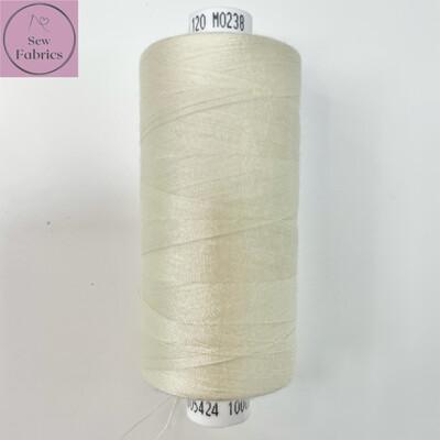 1 x 1000y Coats Moon Thread - Cream M238