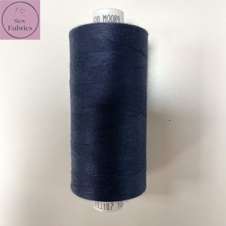1 x 1000y Coats Moon Thread - Navy M089