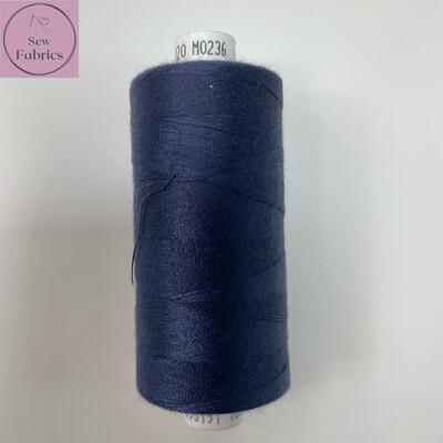 1 x 1000y Coats Moon Thread - Navy Blue M236