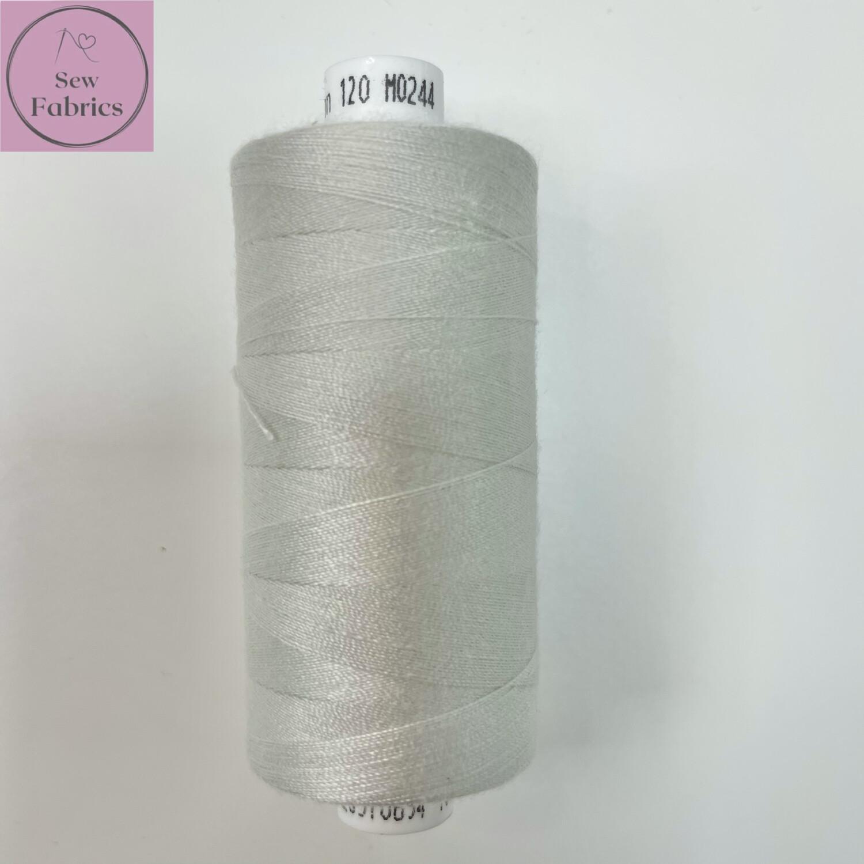 1 x 1000y Coats Moon Thread - Pale Silver Moon M244