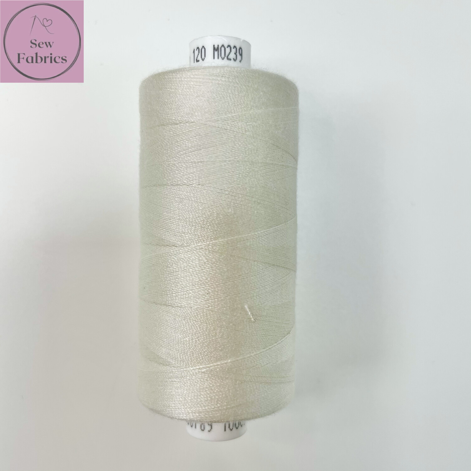 1 x 1000y Coats Moon Thread in Pearl - Ivory,Neutral M239