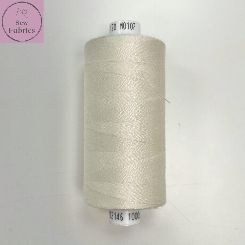 1 x 1000y Coats Moon Thread - Off White M107