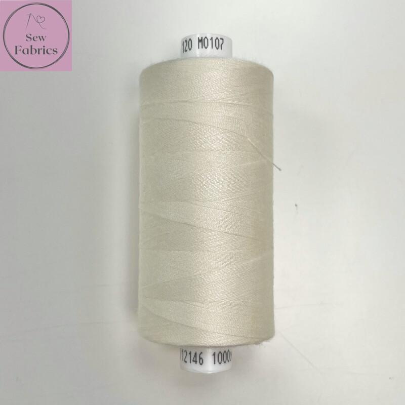 1 x 1000y Coats Moon Thread Box - Off White M107
