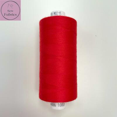 1 x 1000y Coats Moon Thread - Bright Red M215