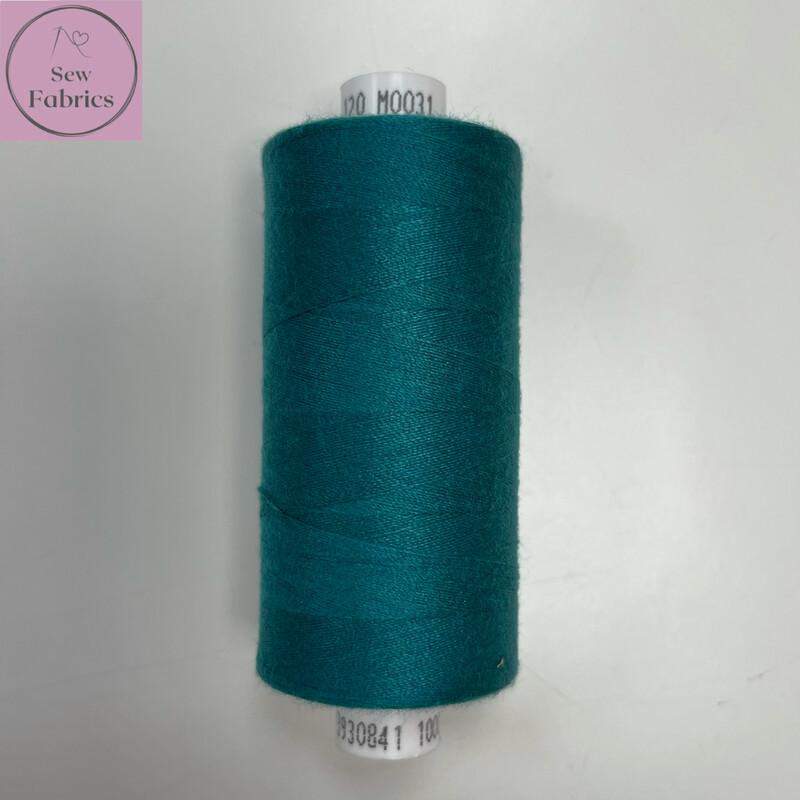 1 x 1000y Coats Moon Thread - Teal M031