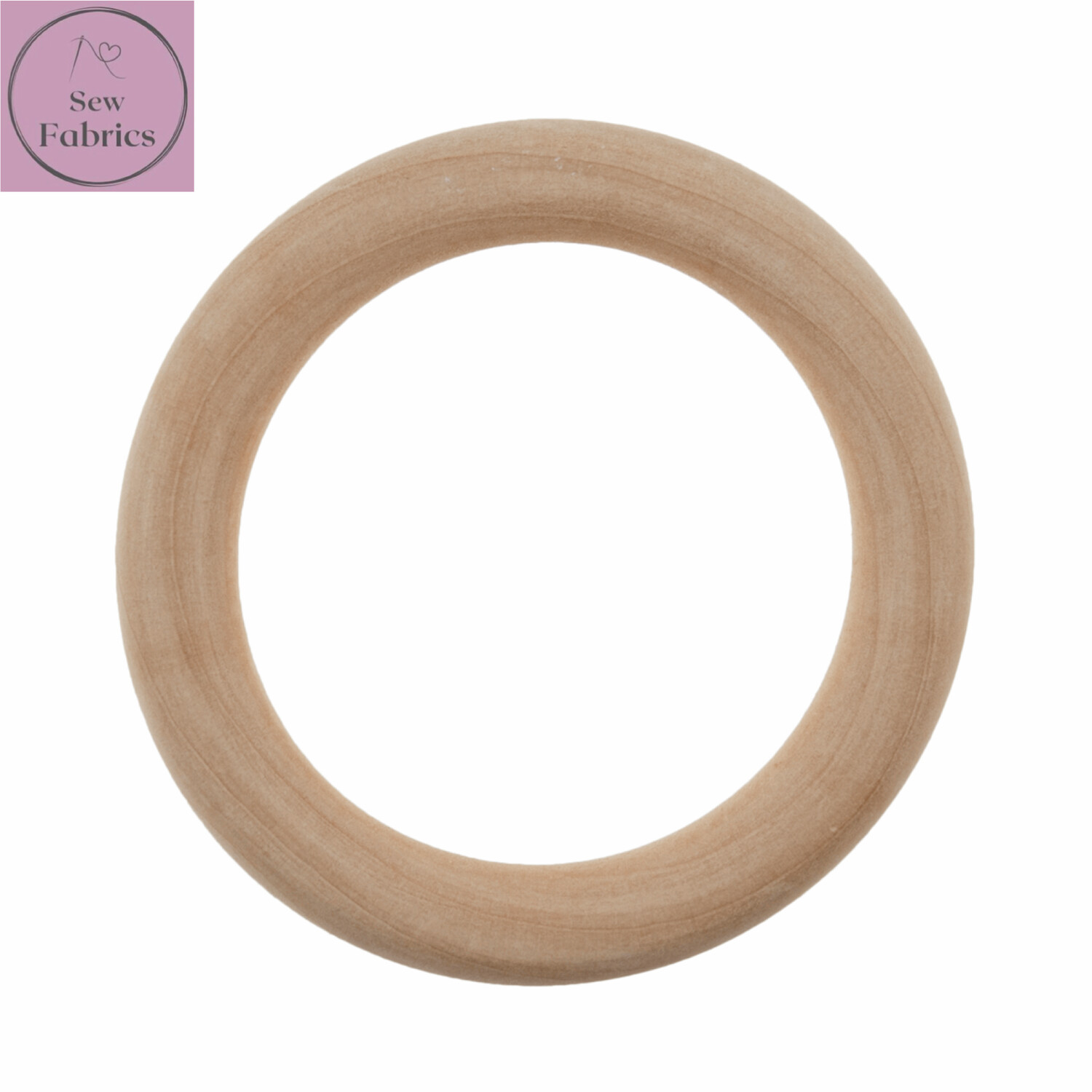 Wooden Craft Ring 7cm Diameter, for Macrame, Wall hanging projects