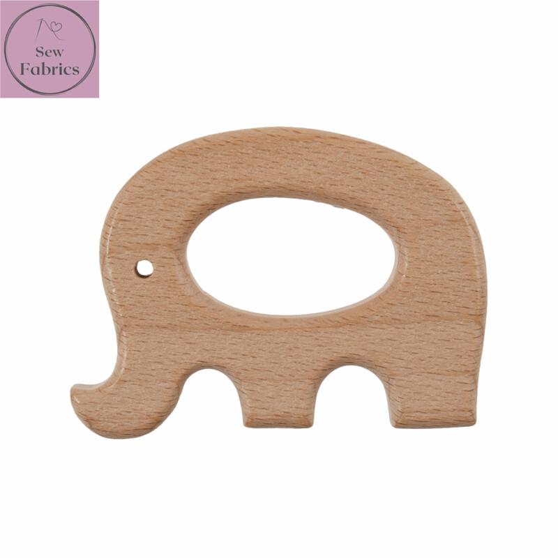 Premium Beech Wood Elephant Craft Ring 4.5cm Diameter, for Macrame, Wall hanging, Crochet projects