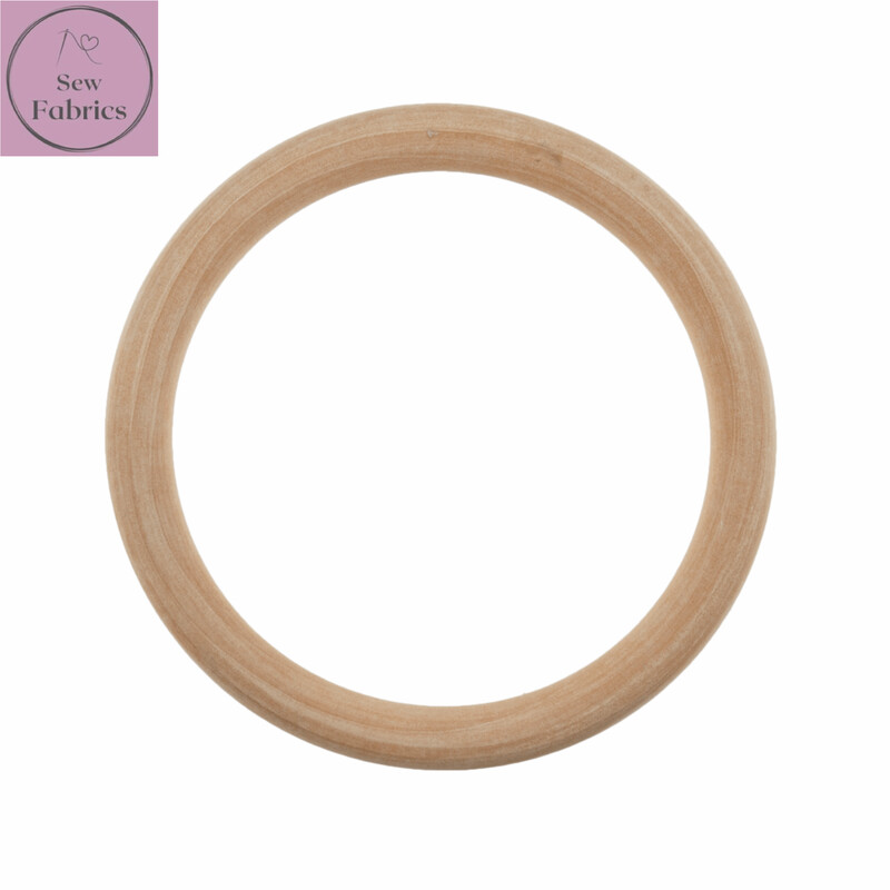 Wooden Craft Ring 10cm Diameter, for Macrame, Wall hanging projects
