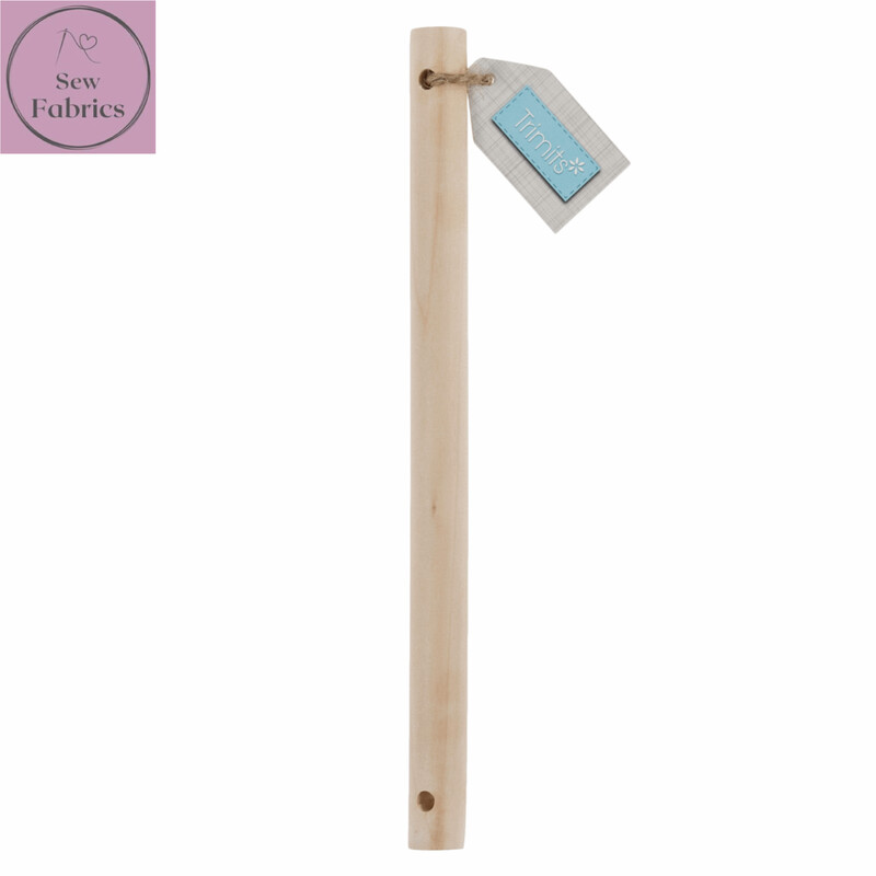 Birch Wooden Dowel 20cm x 15mm for Macrame, Wall hanging projects