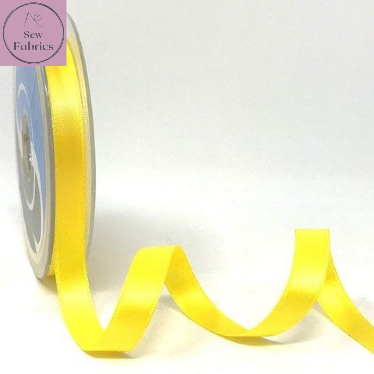 Safisa Pale Yellow Plain Double Faced Satin Ribbon in Various Widths By The Metre