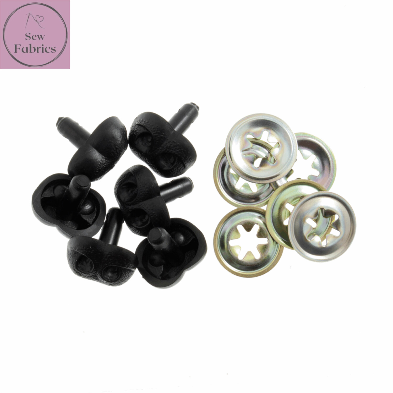 Trimits 25mm Black Dog Animal Nose Buttons for Toys