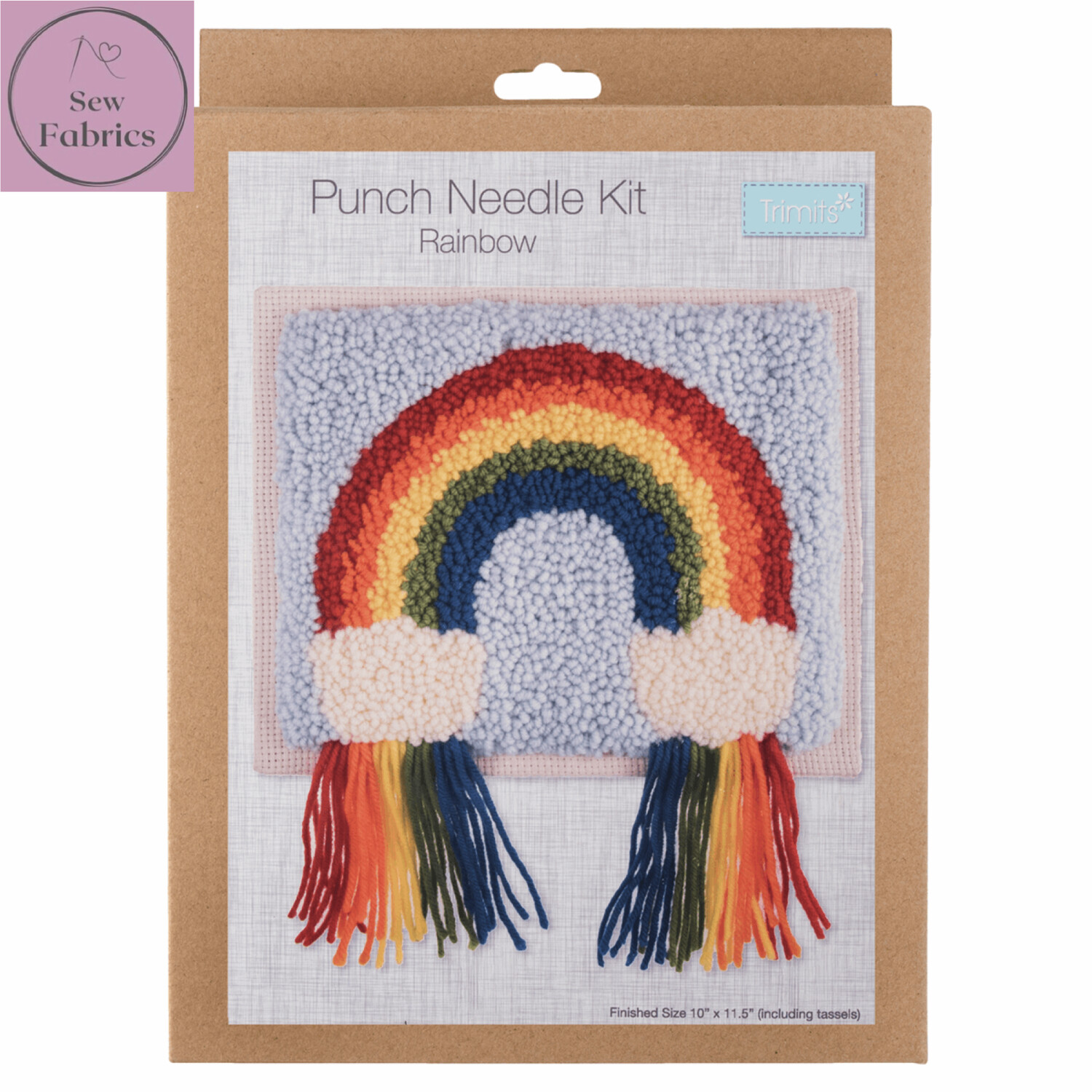 Trimits Rainbow Punch Needle Kit Craft Set