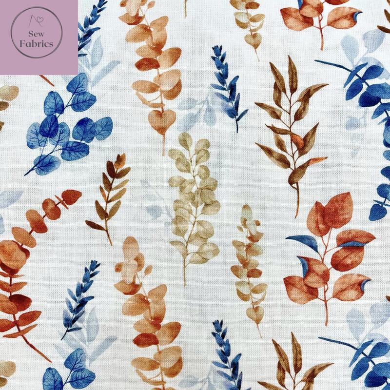 John Louden Autumn Eucalyptus Fabric 100% Cotton 60