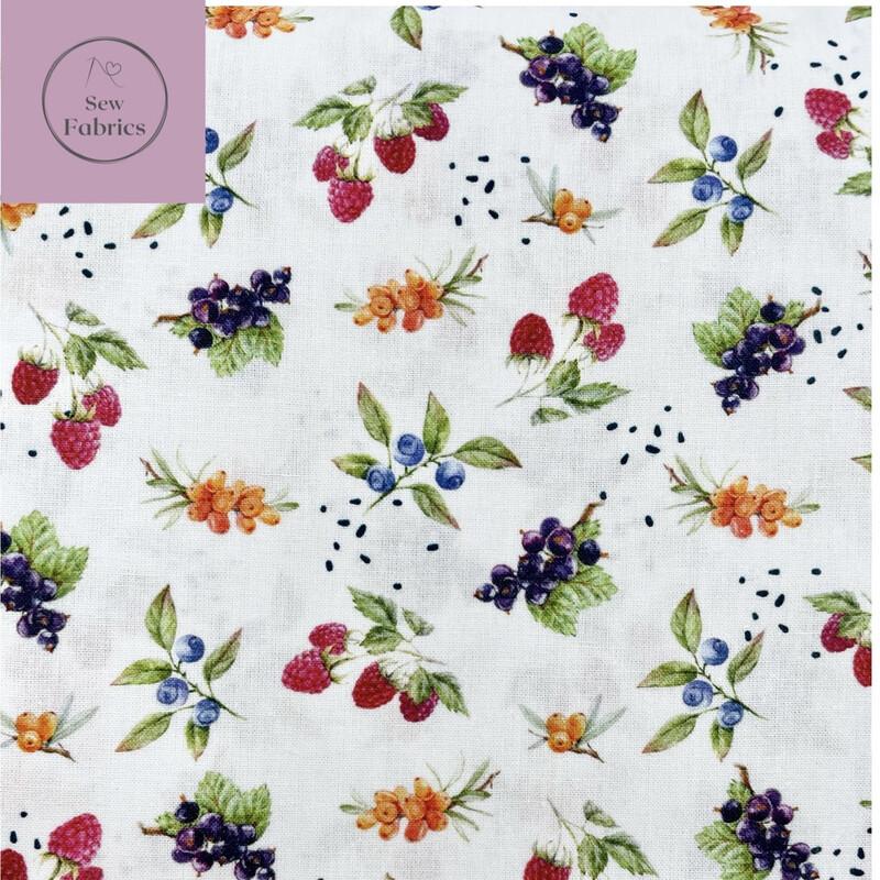 John Louden Summer Berries Fabric 100% Cotton 60