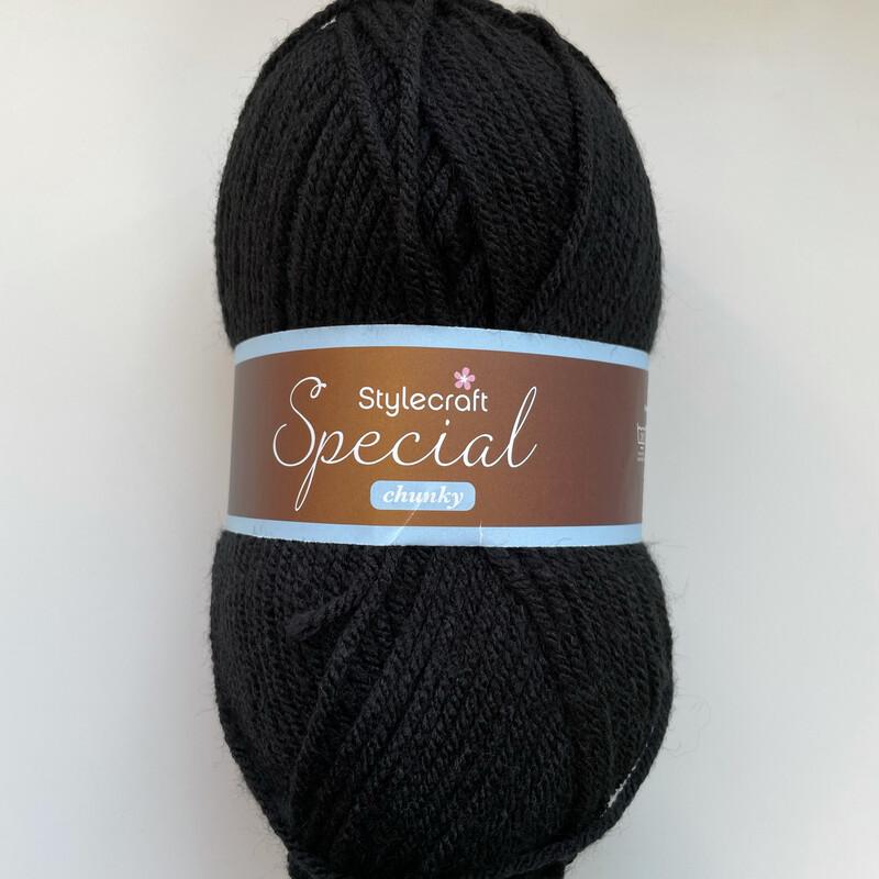 Black 1002 Special Chunky Stylecraft Special DK 100% Premium Acrylic Wool Yarn