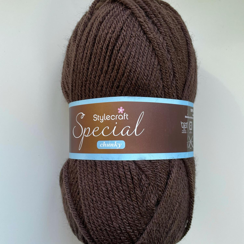 Dark Brown 1004 Special Chunky Stylecraft Special DK 100% Premium Acrylic Wool Yarn