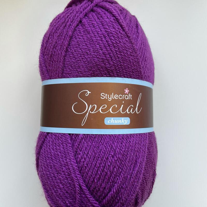 Purple 1840 Special Chunky Stylecraft Special DK 100% Premium Acrylic Wool Yarn