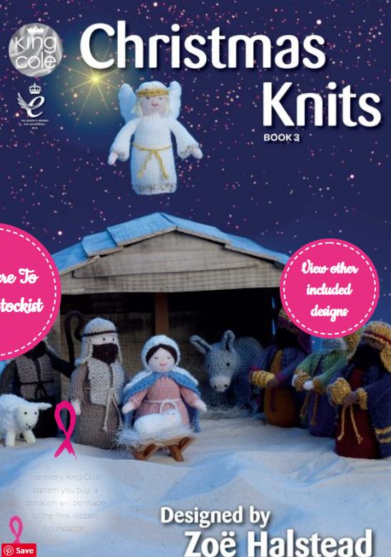 King Cole Christmas Knits, Knitting Pattern Book 3