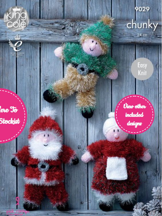 King Cole Christmas Toys Knitted Pattern 9029
