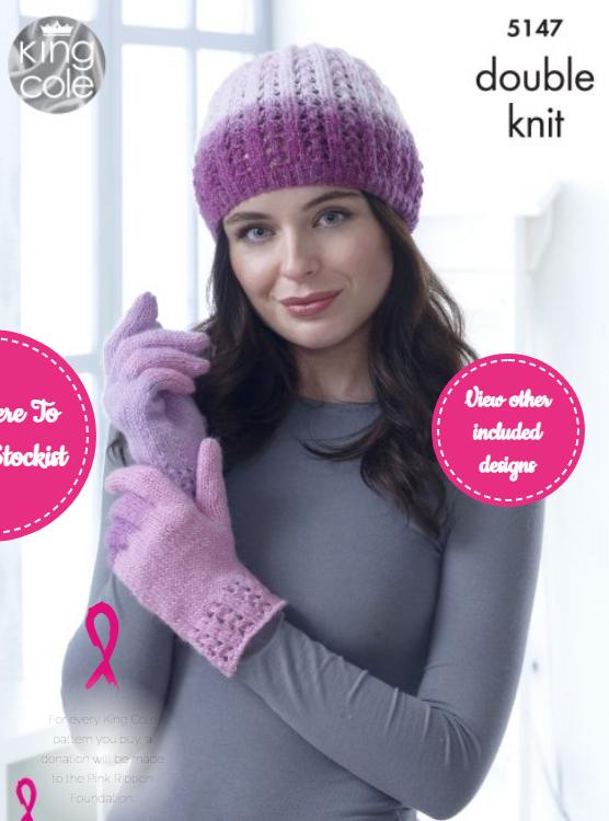 King Cole Hat, Cowl, Gloves, Shoulder Cover, Socks & Helmet Pattern 5147