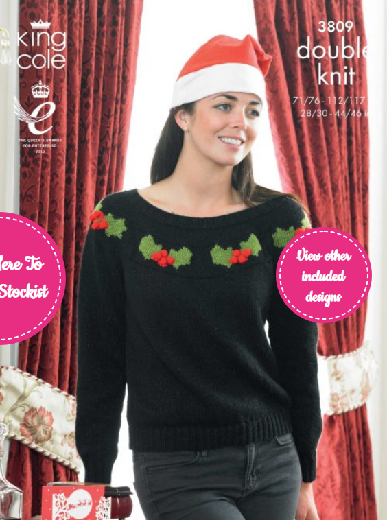 King Cole His and Hers Christmas Sweaters Pattern 3809
