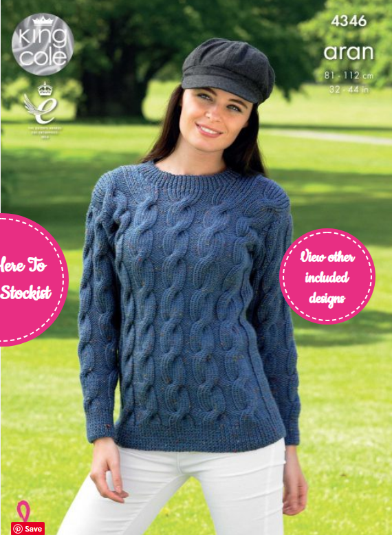 King Cole Sweater and Cardigan Pattern 4346
