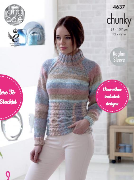 King Cole Sweater & Cardigan Pattern 4637