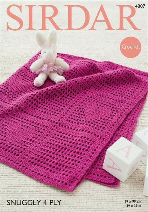 Sirdar Crochet Blanket Pattern 4807