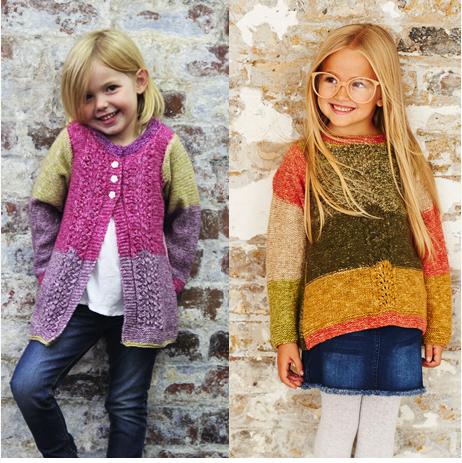 Stylecraft Batik Swirl Pattern 9485 Sweater & Cardigan