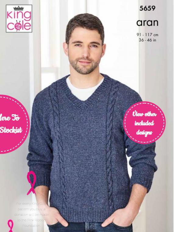 King Cole Sweater & Sleeveless Sweater Pattern 5659