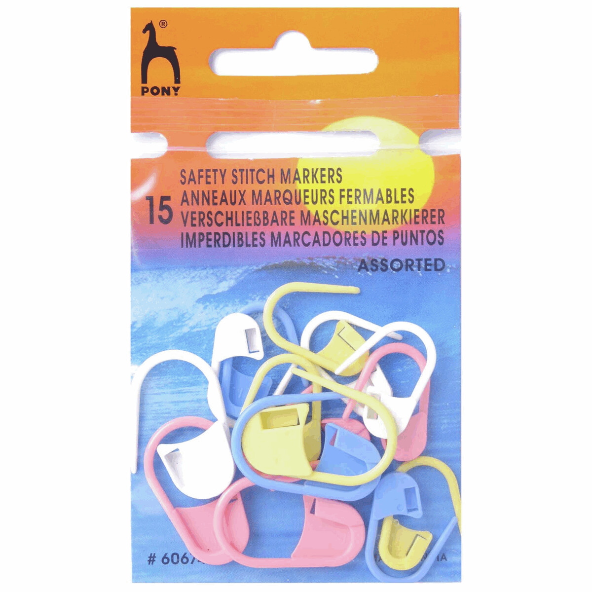 Pony Assorted Safety Stitch Markers to fit up to 10mm needles.