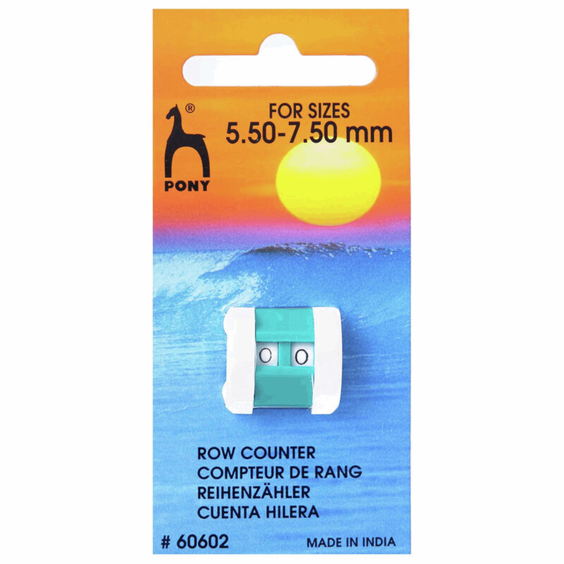 Pony Row Counter - Large, for knitting pin / needle sizes 5.5 - 7.5mm