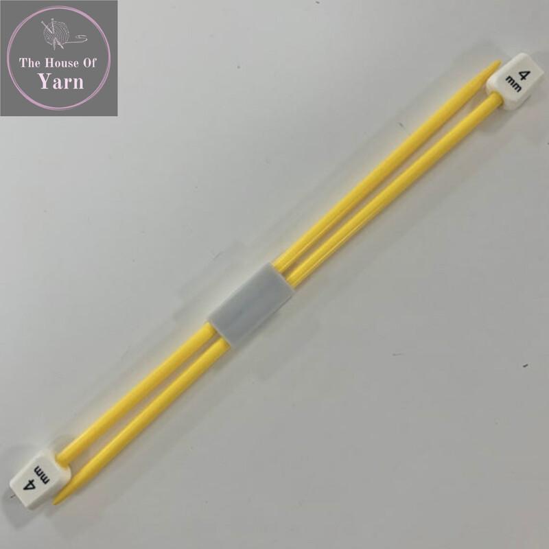 Whitcroft Children's Yellow 100% Acrylic Knitting Needles / Pins in Size 4