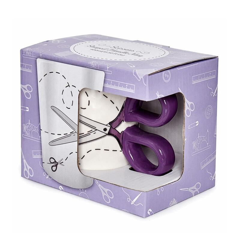 Scissors Design Sewing Boxed Gift Mug