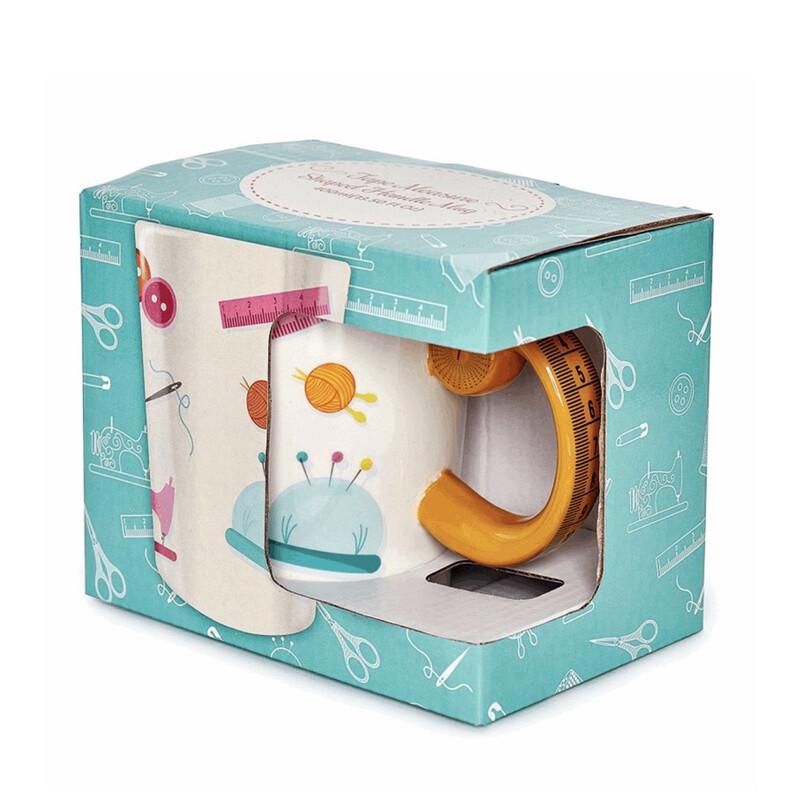 Tape Measure Design Sewing Boxed Gift Mug