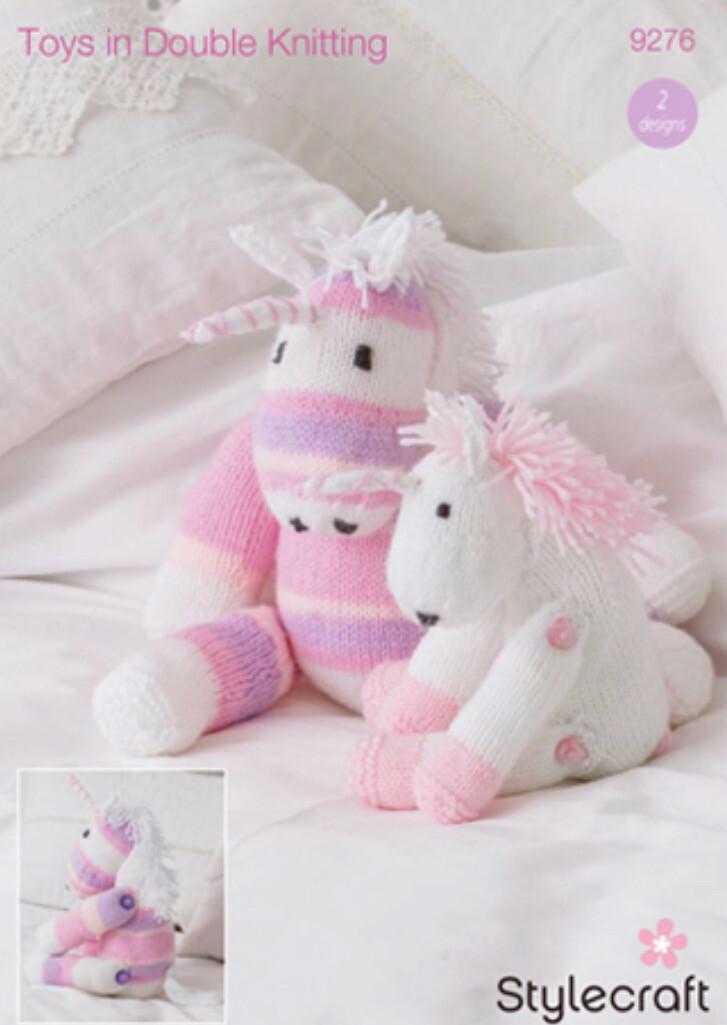 Stylecraft Wondersoft DK and Merry Go Round Pattern 9276 Unicorn Toys