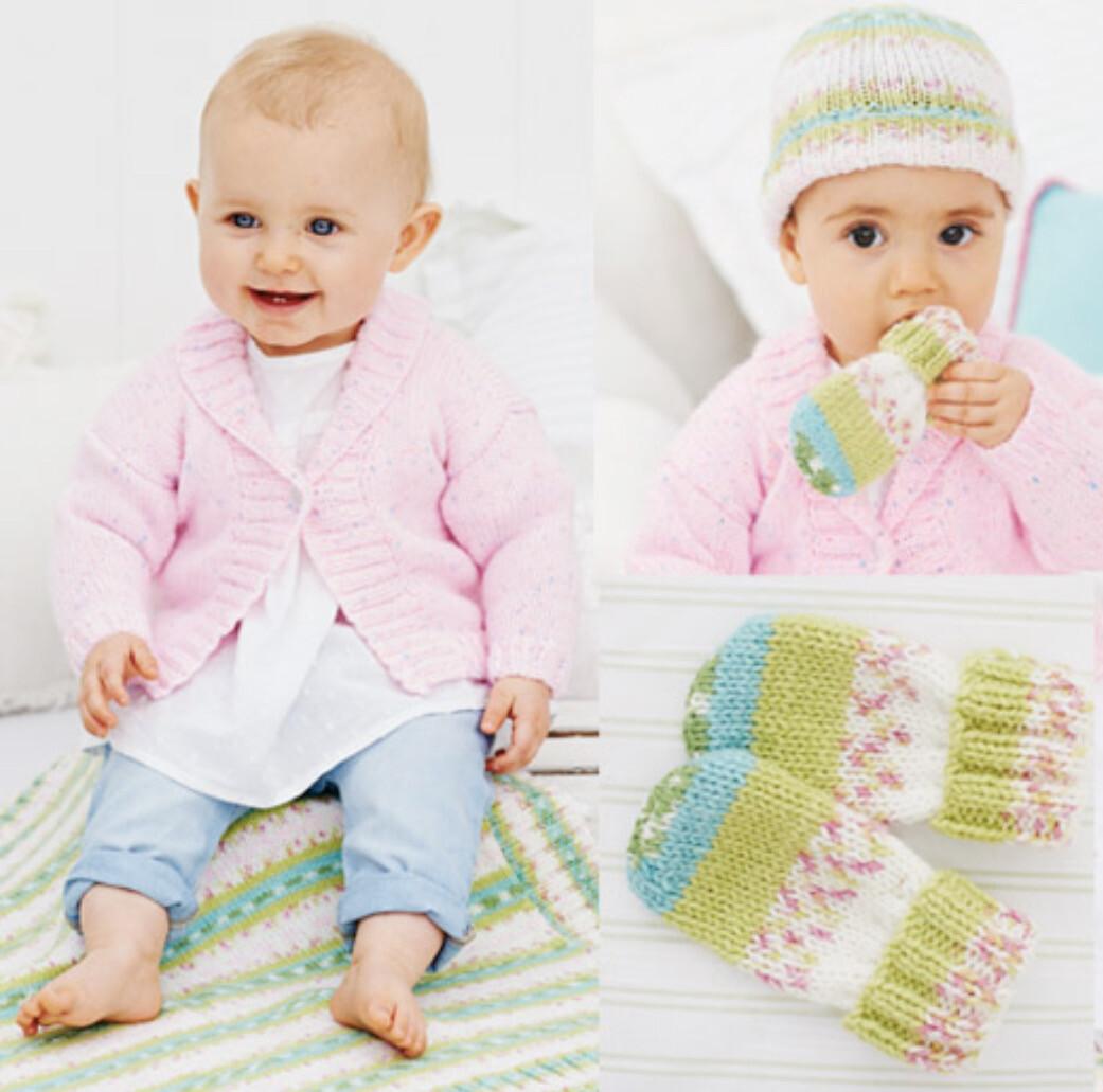 Wondersoft DK Pattern 9479 Cardigan, Blanket, Hat & Mittens