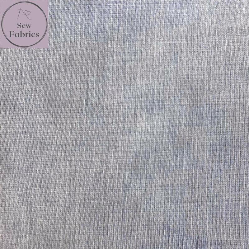 John Louden Silver Linen Look Texture 100% Cotton Fabric
