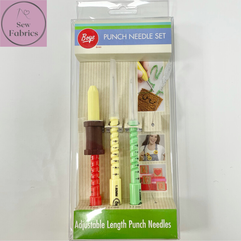 Punch Needle Embroidery Set, Pack of 3 Adjustable Length Needles