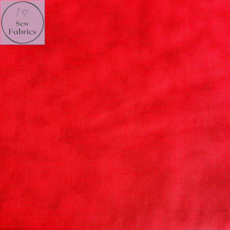 John Louden Red Blender 100% Cotton Fabric, Red Mixer Backing Material