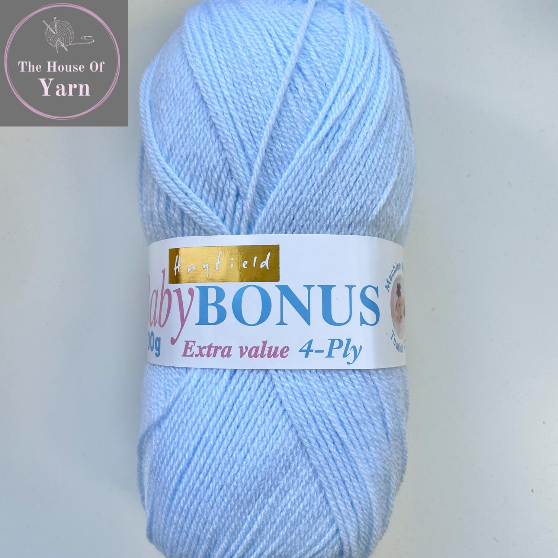 Baby Blue 0854 Sirdar Hayfield Baby Bonus 4 Ply 100% Acrylic Wool Yarn 100g