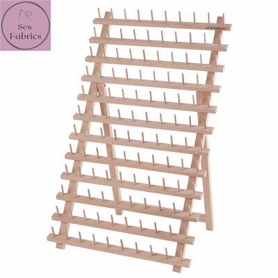Milward Beech Wood Spool Holder, Holds 120 Reels of Thread, Display Stand with or without threads