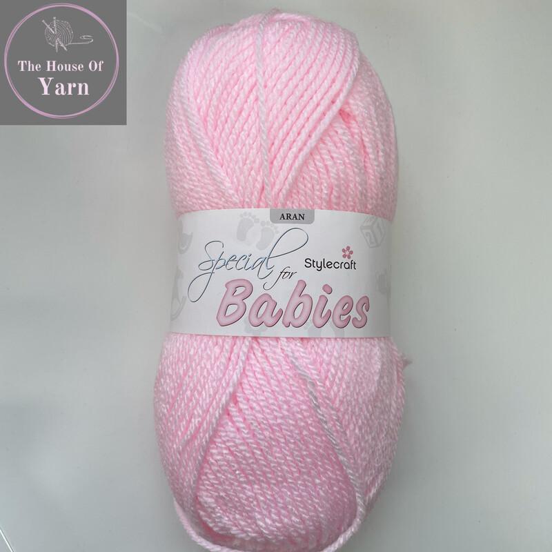 Baby Pink Stylecraft Special for Babies Aran, 100g ball yarn