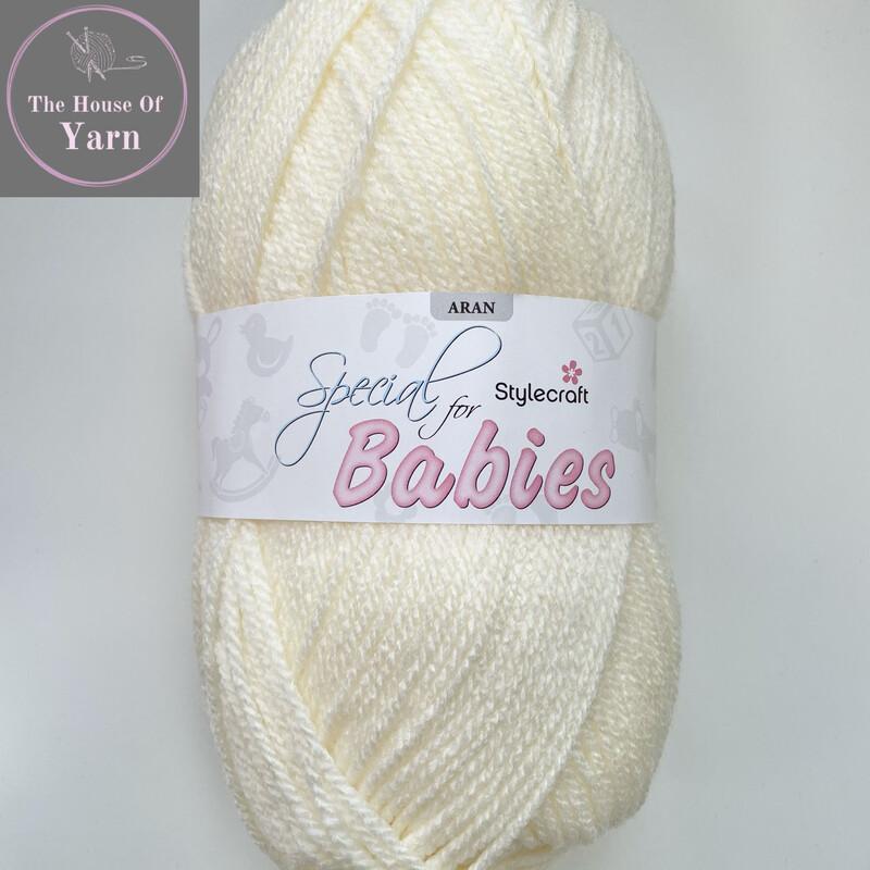 Baby Cream Stylecraft Special for Babies Aran, 100g ball yarn