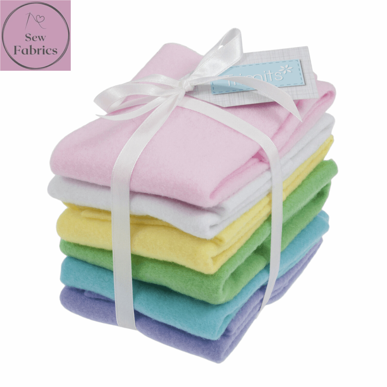 Pastel Felt Sheet Pack -6 Sheets, Assorted Colours, 30 x 23cm, Craft Felt