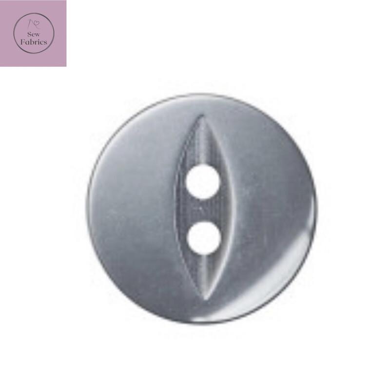 14mm 2 Hole Grey Classic Fisheye Button