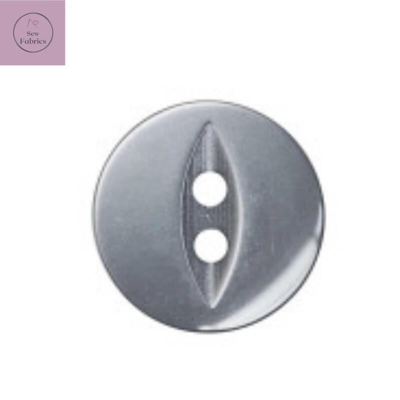 19mm 2 Hole Grey Classic Fisheye Button