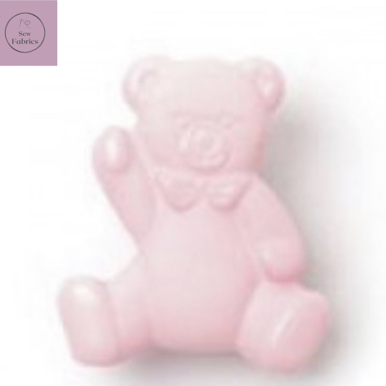16mm Pink Teddy Shank Button